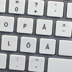 Apple Swedish Finnish non-transparent keyboard sticker