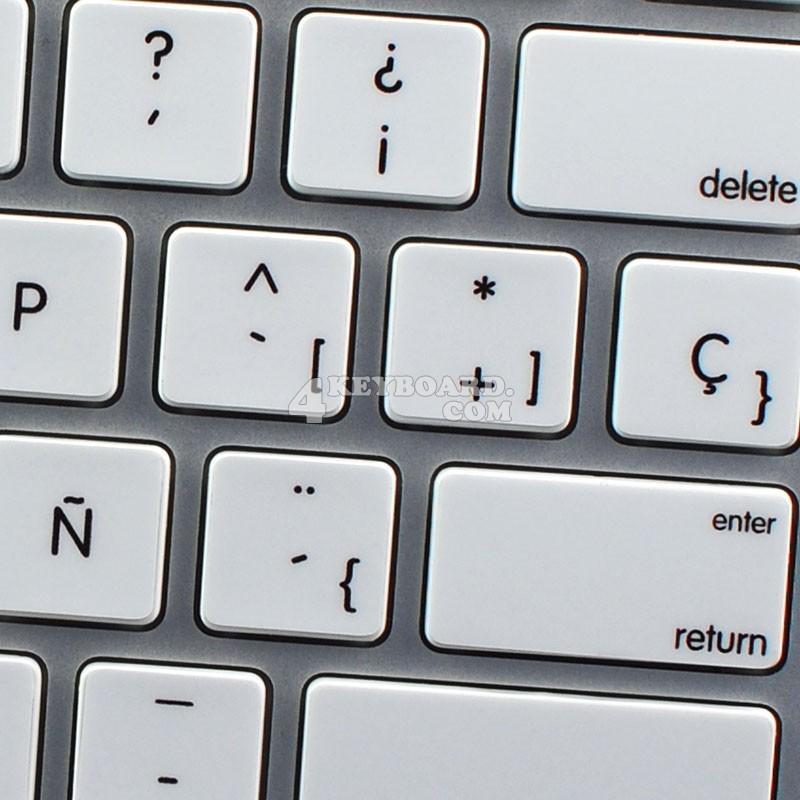 Apple Spanish non-transparent keyboard sticker