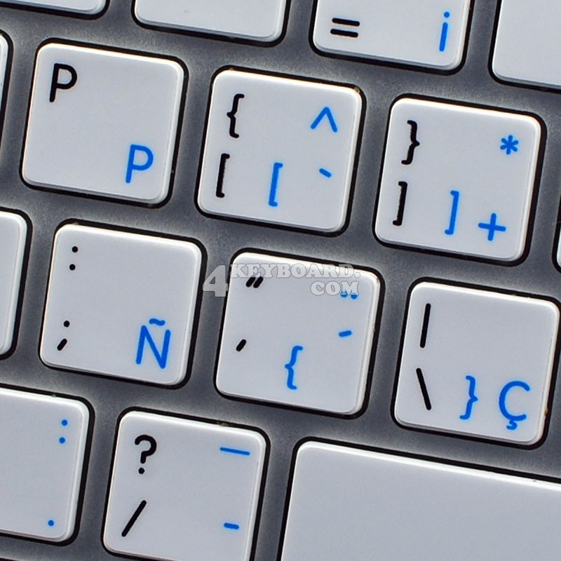 Apple Spanish English non-transparent keyboard sticker