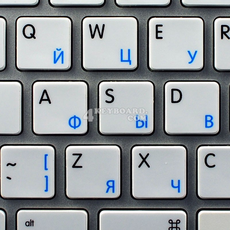 Apple Russian English non-transparent keyboard sticker