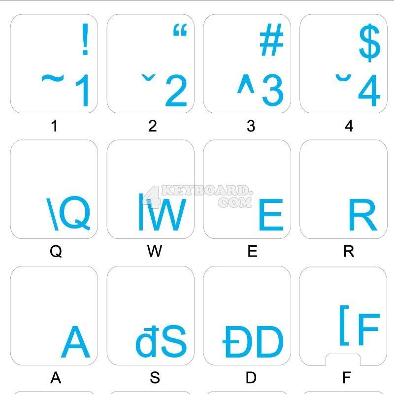 Albanian transparent keyboard stickers