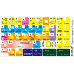 Trimble SketchUp keyboard sticker