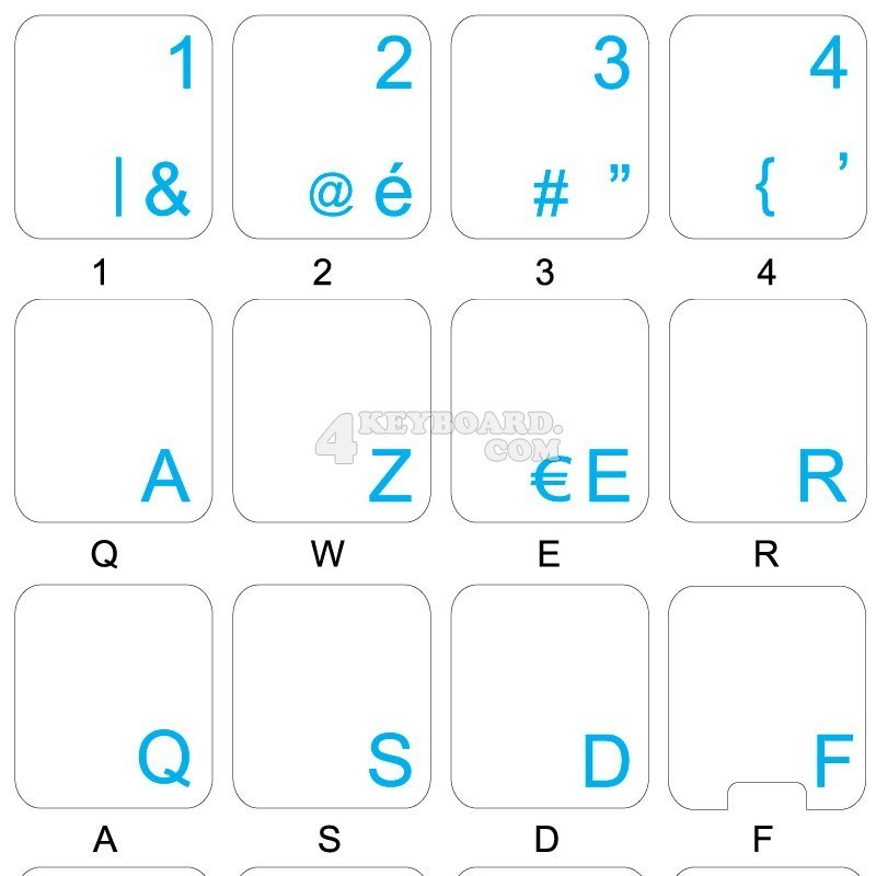 Dutch Belgian transparent keyboard stickers