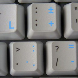 Dutch transparent keyboard stickers