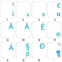English US International transparent keyboard stickers