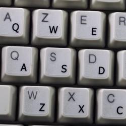 English US transparent keyboard stickers