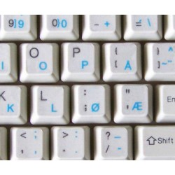 Norwegian transparent keyboard  stickers