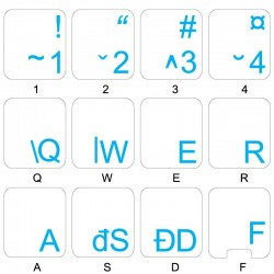 Romanian transparent keyboard  stickers