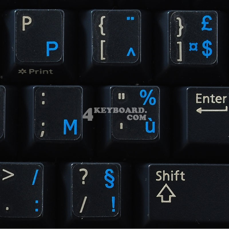 Belgian French transparent keyboard stickers