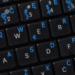 Lithuanian transparent keyboard  stickers