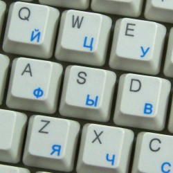 Russian Cyrillic  transparent keyboard  stickers