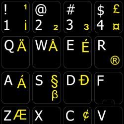 English US International non transparent keyboard stickers