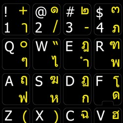 Thai English non transparent keyboard  stickers