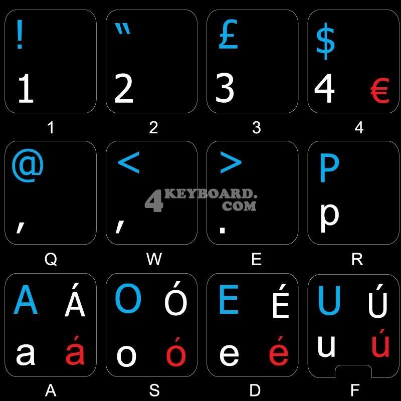 Dvorak UK non-transparent keyboard  stickers