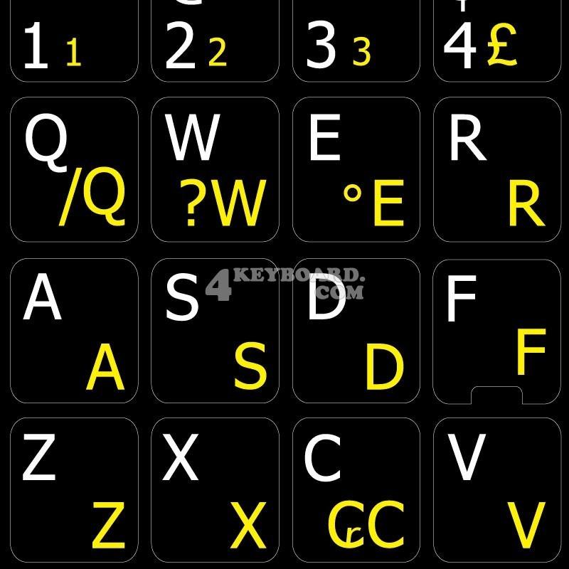 Portuguese Brazilian English non-transparent keyboard stickers