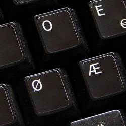 Norwegian Dvorak non transparent keyboard  stickers