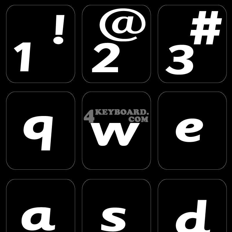 English US (Sassoon) non transparent keyboard stickers