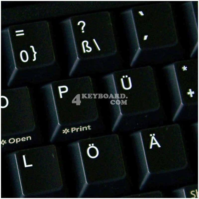 German non-transparent keyboard sticker