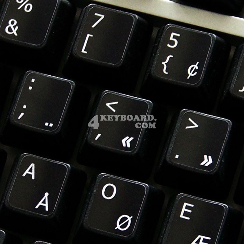 Programmer Dvorak non-transparent keyboard  stickers