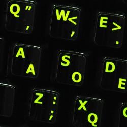 Glowing fluorescent Dvorak - English keyboard sticker