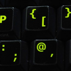 Glowing fluorescent English UK keyboard sticker