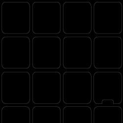 Blank keyboard stickers