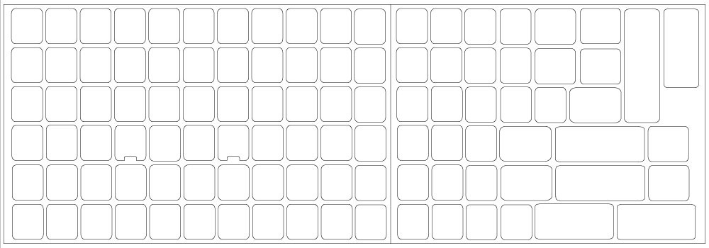 graphic relating to Printable Keyboard Stickers named Blank keyboard stickers