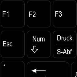 Function keys German...