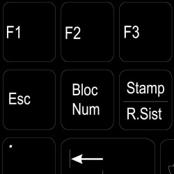 Function keys Italian language non-transparent keyboard sticker