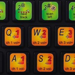 DJ-1800 keyboard sticker