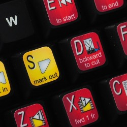 Avid Studio keyboard sticker