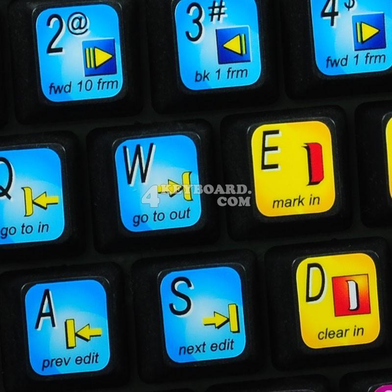 Avid Xpress Media Composer keyboard sticker