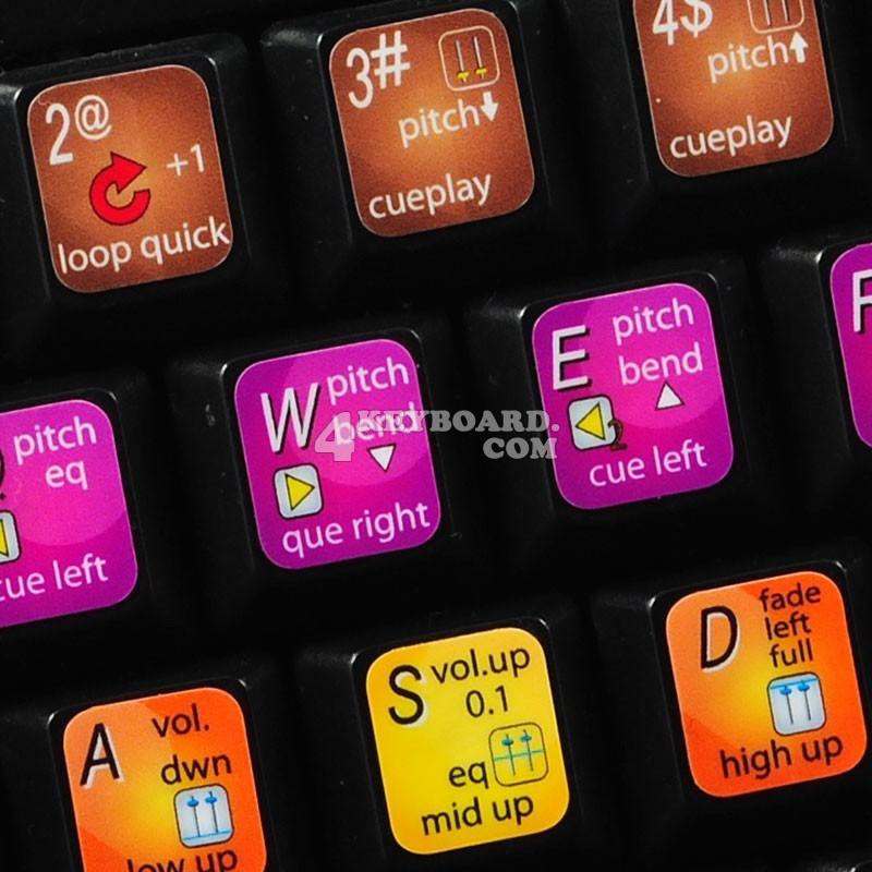 PCDJ DEX keyboard sticker
