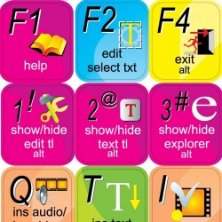 DVD Architect keyboard sticker