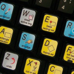 PhotoFiltre keyboard sticker