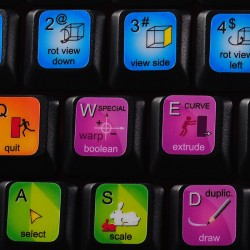 Blender keyboard sticker