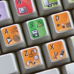 CorelDRAW keyboard sticker
