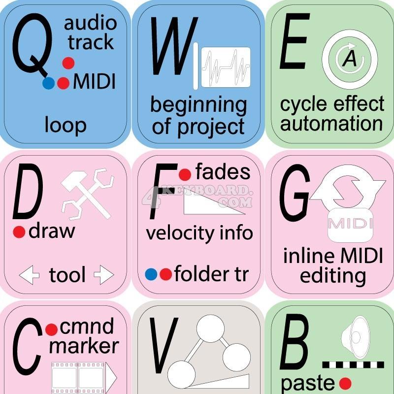 MUSIC STUDIO keyboard sticker
