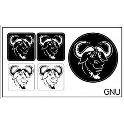 GNU sticker