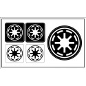 "Galactic Republic (""Star Wars"") sticker"