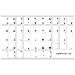 English US transparent keyboard stickers