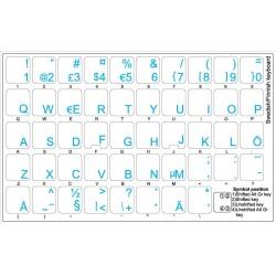 Swedish Finnish transparent keyboard  stickers