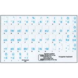 Hungarian transparent keyboard stickers