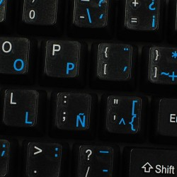 Spanish (Latin American) transparent keyboard  stickers