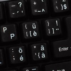 Swiss transparent keyboard  stickers
