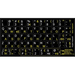 Italian English non transparent keyboard  stickers
