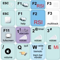 GUITAR PRO keyboard sticker