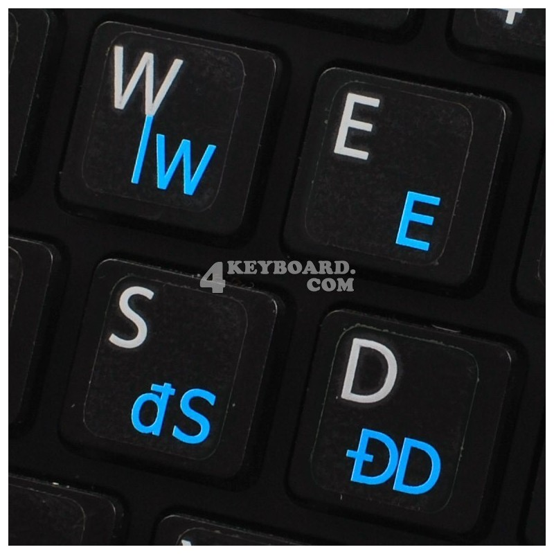 Polish 214 transparent keyboard stickers