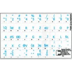 Polish 214 transparent keyboard stickers