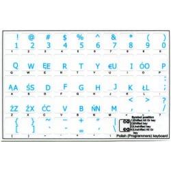 Polish Programmer transparent keyboard stickers